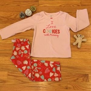 Carter's I love Cookies With Mommy Christmas PJs